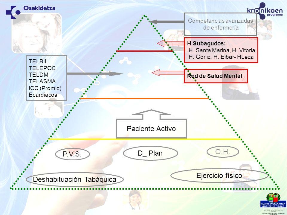Paciente Activo P.V.S. Deshabituación Tabáquica D_ Plan Ejercicio físico H Subagudos: H. Santa Marina, H. Vitoria H. Gorliz. H. Eibar- HLeza O.H. Red