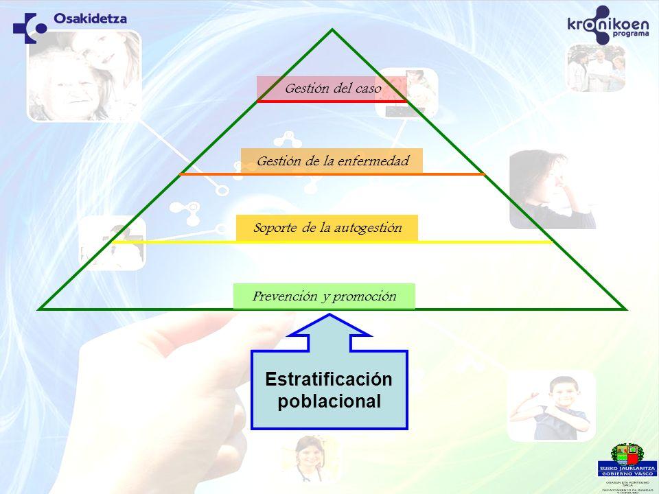 Estratificación poblacional Prevención y promoción Soporte de la autogestión Gestión de la enfermedad Gestión del caso