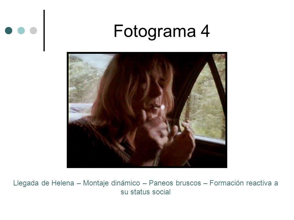 Fotograma 4 Llegada de Helena – Montaje dinámico – Paneos bruscos – Formación reactiva a su status social