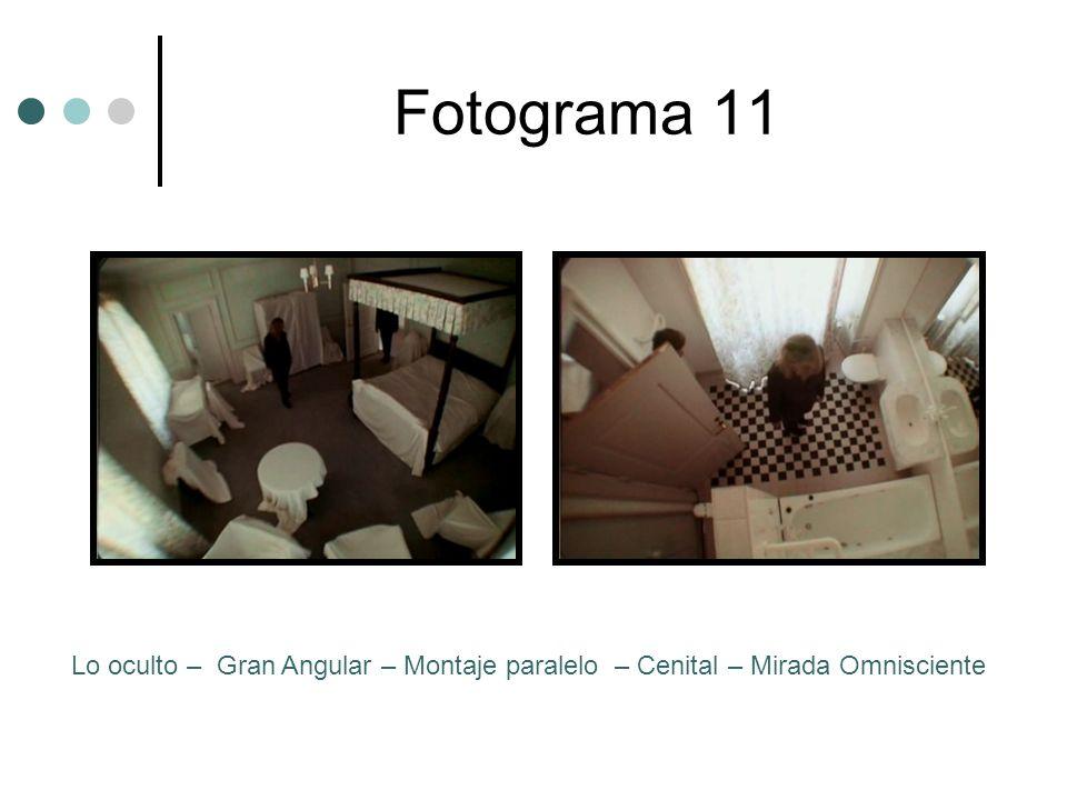 Fotograma 11 Lo oculto – Gran Angular – Montaje paralelo – Cenital – Mirada Omnisciente