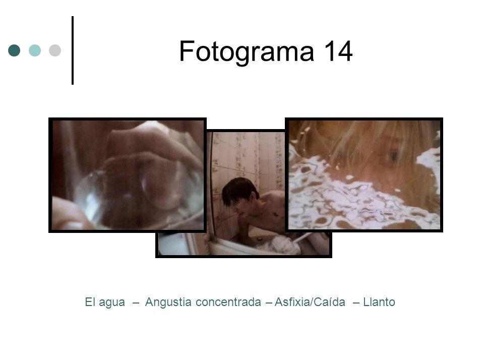 Fotograma 14 El agua – Angustia concentrada – Asfixia/Caída – Llanto