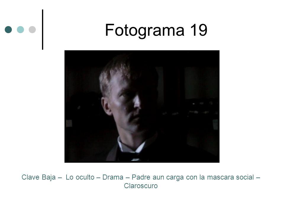 Fotograma 19 Clave Baja – Lo oculto – Drama – Padre aun carga con la mascara social – Claroscuro