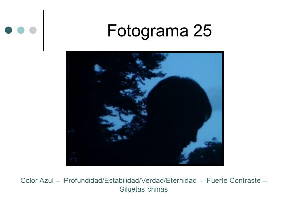 Fotograma 25 Color Azul – Profundidad/Estabilidad/Verdad/Eternidad - Fuerte Contraste – Siluetas chinas