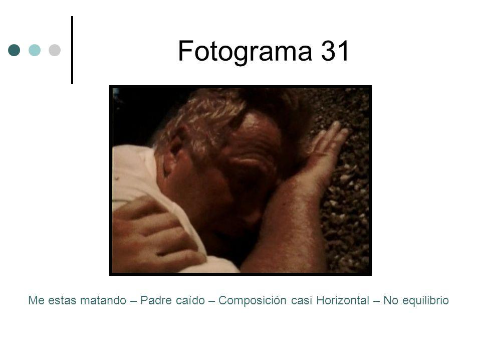 Fotograma 31 Me estas matando – Padre caído – Composición casi Horizontal – No equilibrio