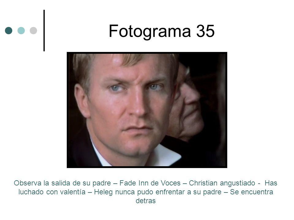 Fotograma 35 Observa la salida de su padre – Fade Inn de Voces – Christian angustiado - Has luchado con valentía – Heleg nunca pudo enfrentar a su pad