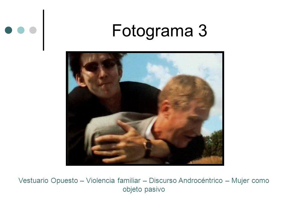 Fotograma 3 Vestuario Opuesto – Violencia familiar – Discurso Androcéntrico – Mujer como objeto pasivo