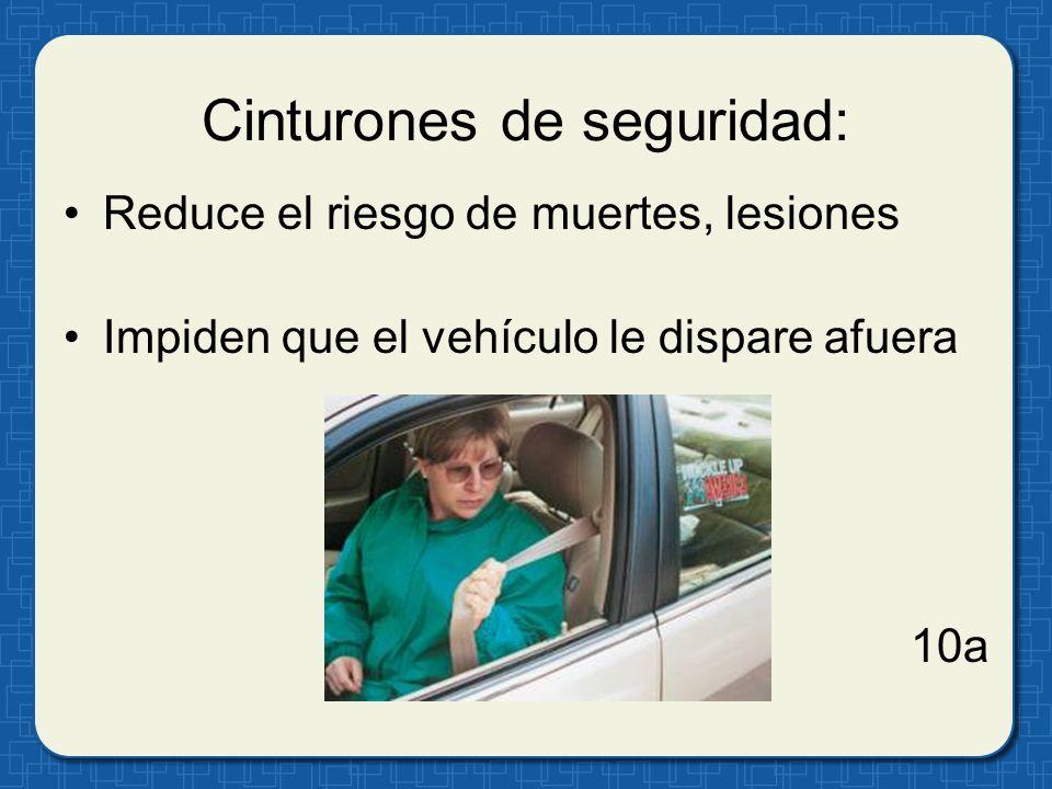 Cinturones de seguridad: Reduce el riesgo de muertes, lesiones Impiden que el vehículo le dispare afuera 10a