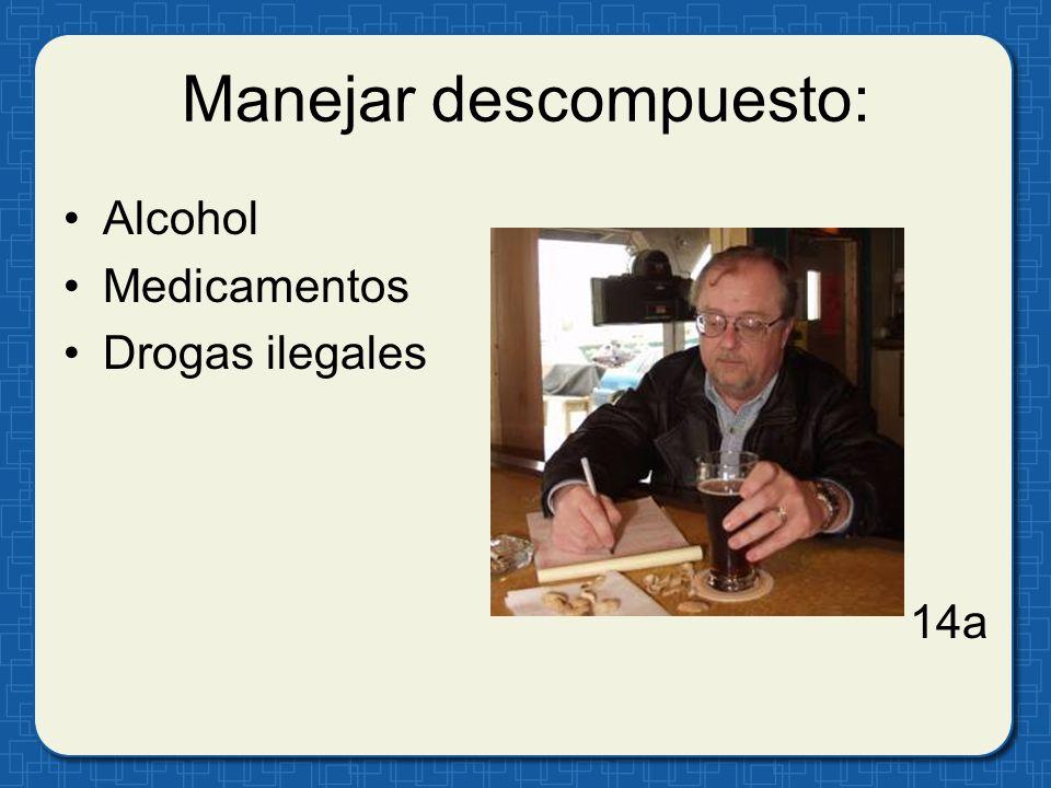 Manejar descompuesto: Alcohol Medicamentos Drogas ilegales 14a
