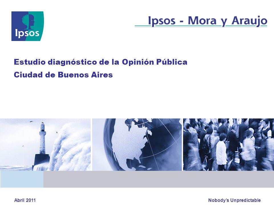 Nobodys Unpredictable Estudio diagnóstico de la Opinión Pública Ciudad de Buenos Aires Abril 2011
