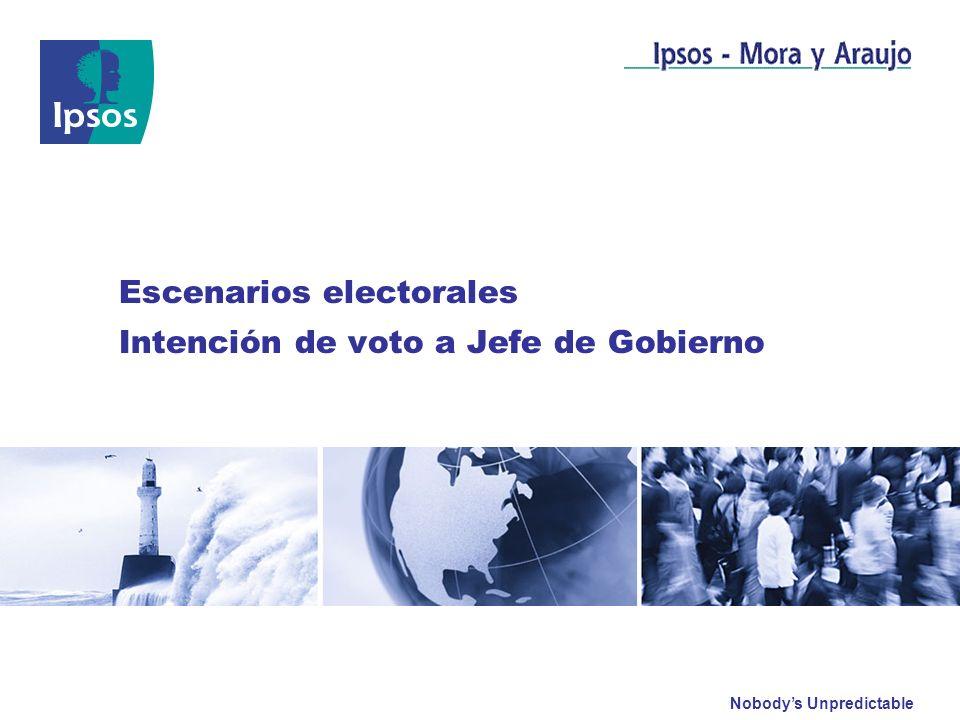 Nobodys Unpredictable Abril 2011 Escenarios electorales Intención de voto a Jefe de Gobierno