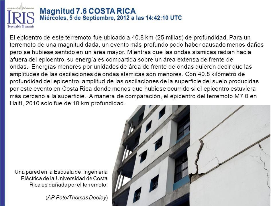 Este terremoto ocurrió debajo de la Península de Nicoya (estrella roja, en el mapa de la parte inferior) como resultado de un fallado inverso sobre o cercano a la interface del límite de Placa entre las Placas de Cocos y del Caribe.