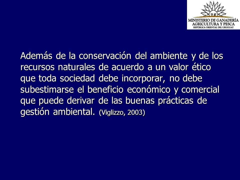 Además de la conservación del ambiente y de los recursos naturales de acuerdo a un valor ético que toda sociedad debe incorporar, no debe subestimarse