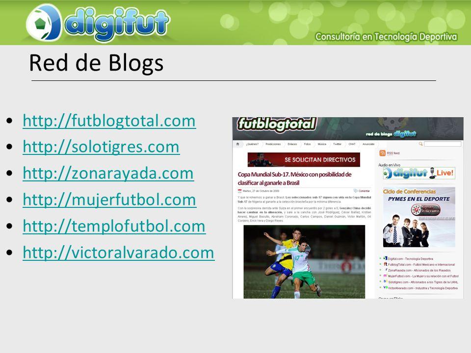 Red de Blogs http://futblogtotal.com http://solotigres.com http://zonarayada.com http://mujerfutbol.com http://templofutbol.com http://victoralvarado.