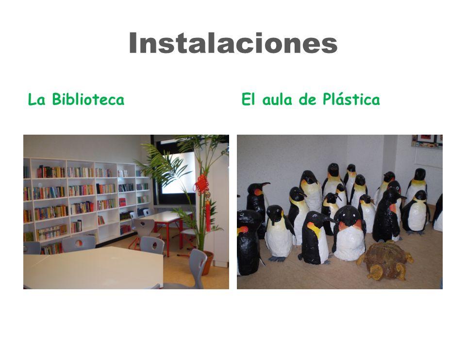 Instalaciones La BibliotecaEl aula de Plástica