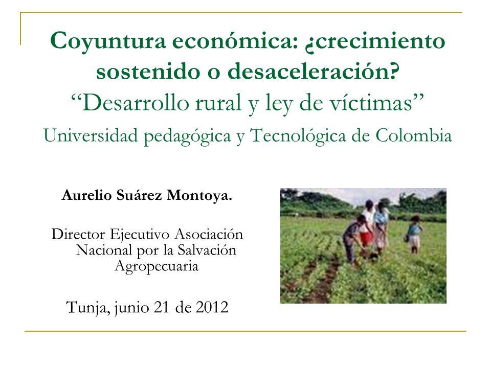 Coyuntura económica: ¿crecimiento sostenido o desaceleración? Desarrollo rural y ley de víctimas Universidad pedagógica y Tecnológica de Colombia Aure