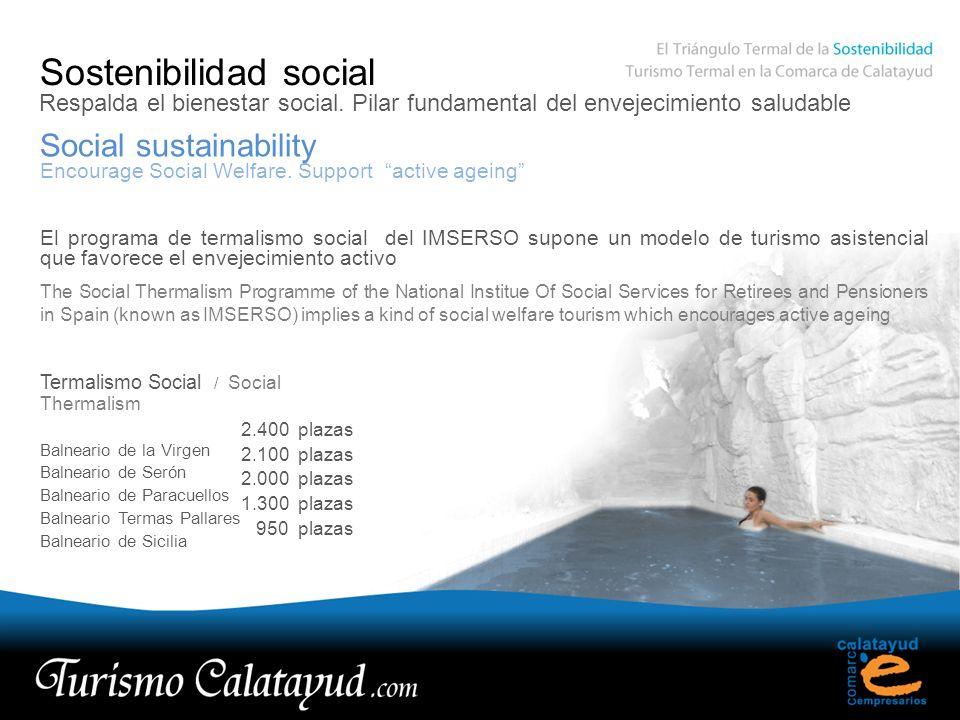 Sostenibilidad social Social sustainability Respalda el bienestar social. Pilar fundamental del envejecimiento saludable Encourage Social Welfare. Sup