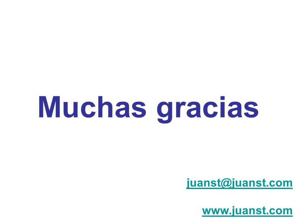 Muchas gracias juanst@juanst.com www.juanst.com