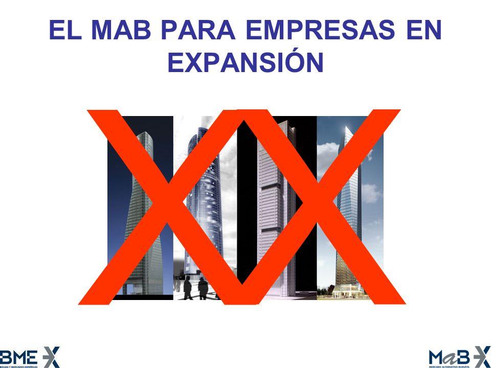 EL MAB PARA EMPRESAS EN EXPANSIÓN X X