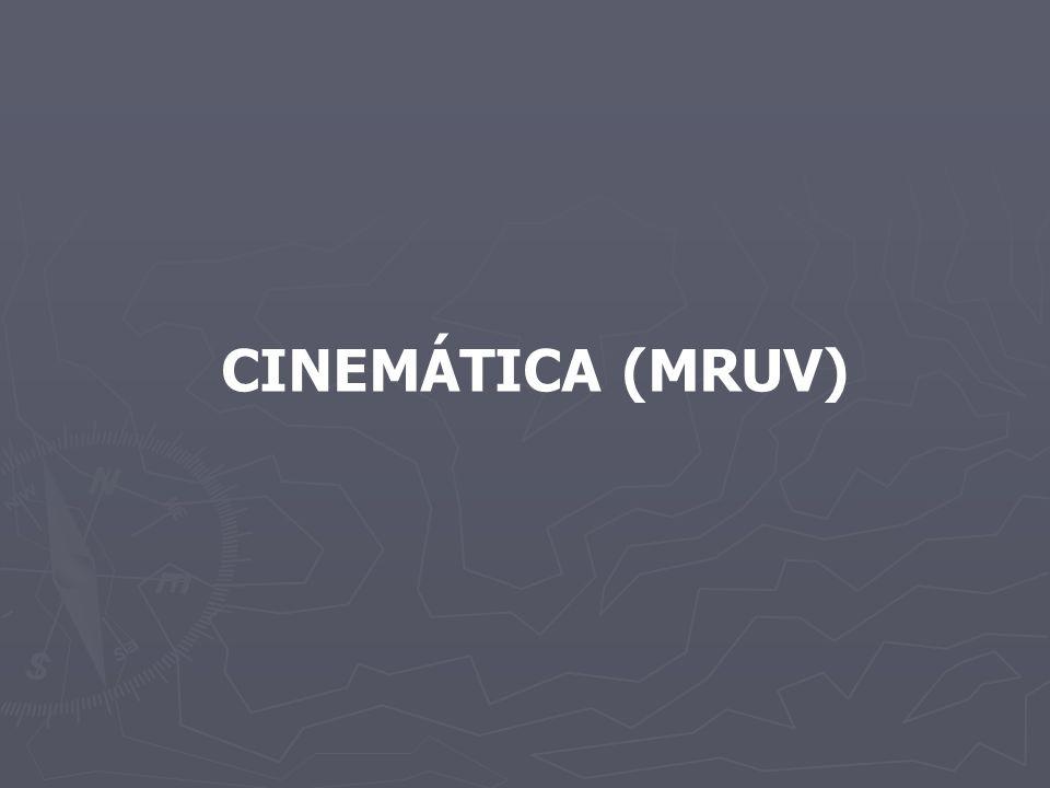 CINEMÁTICA (MRUV)