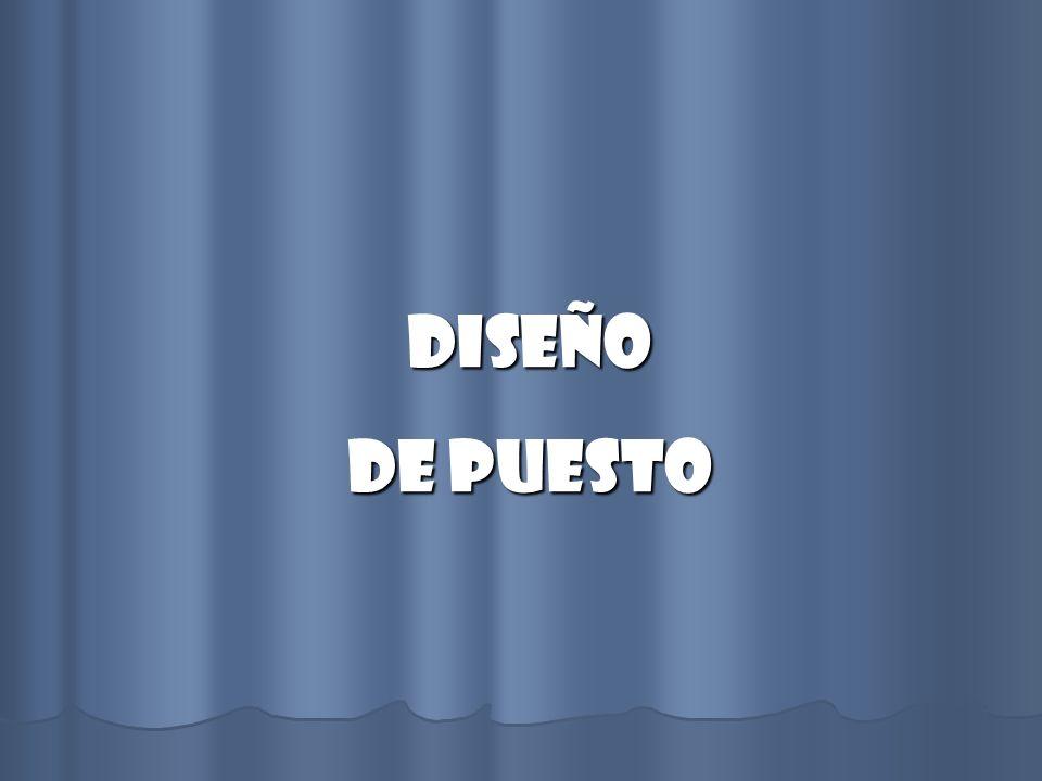 DISEÑO DE PUESTO
