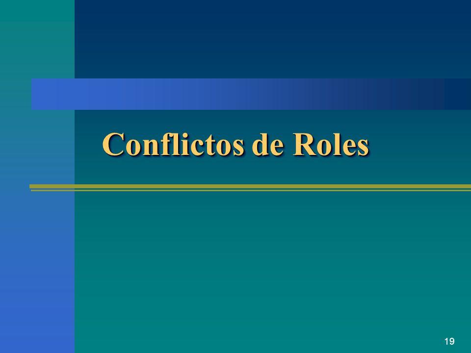 19 Conflictos de Roles