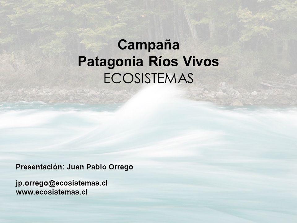 Campaña Patagonia Ríos Vivos ECOSISTEMAS Presentación: Juan Pablo Orrego jp.orrego@ecosistemas.cl www.ecosistemas.cl