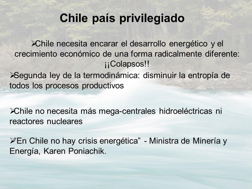 En Chile no hay crisis energética - Ministra de Minería y Energía, Karen Poniachik. Chile no necesita más mega-centrales hidroeléctricas ni reactores
