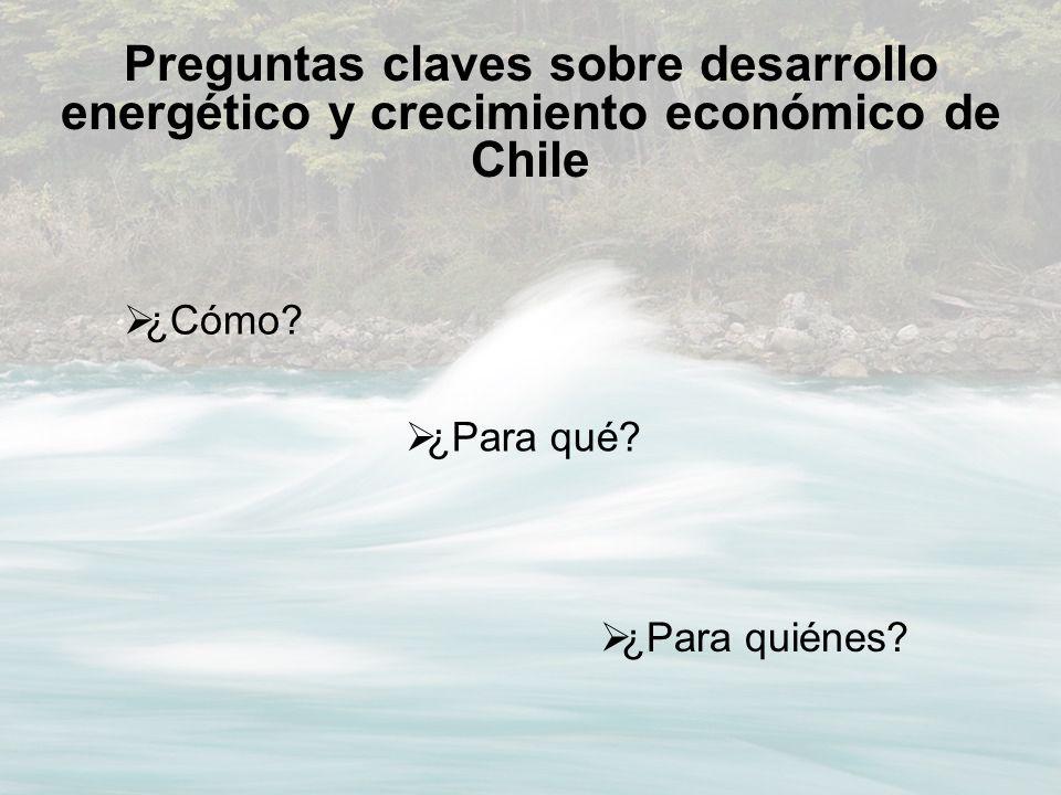¿Cómo? Preguntas claves sobre desarrollo energético y crecimiento económico de Chile ¿Para qué? ¿Para quiénes?