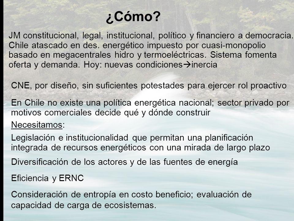 Legislación e institucionalidad que permitan una planificación integrada de recursos energéticos con una mirada de largo plazo ¿Cómo? Diversificación