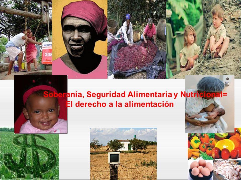 Soberanía, Seguridad Alimentaria y Nutricional= El derecho a la alimentación