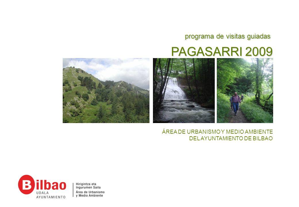 1 PRESENTACIÓN Tras la experiencia del programa de visitas guiadas por el Pagasarri, realizado durante la Aste Berdea 2008 y centrado en único recorrido por el entorno de Bolintxu, se presenta un nuevo programa de visitas para el 2009.