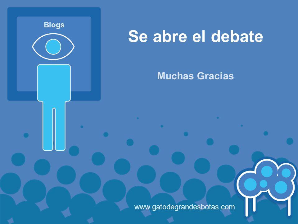 Se abre el debate Muchas Gracias www.gatodegrandesbotas.com Blogs