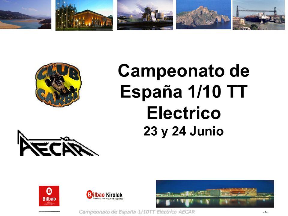 -2--2- Campeonato de España 1/10TT Eléctrico AECAR Club CARBi Dirección de contacto Por correo Club CARBi, c/ Fernando Jiménez, 15, 5ºC.