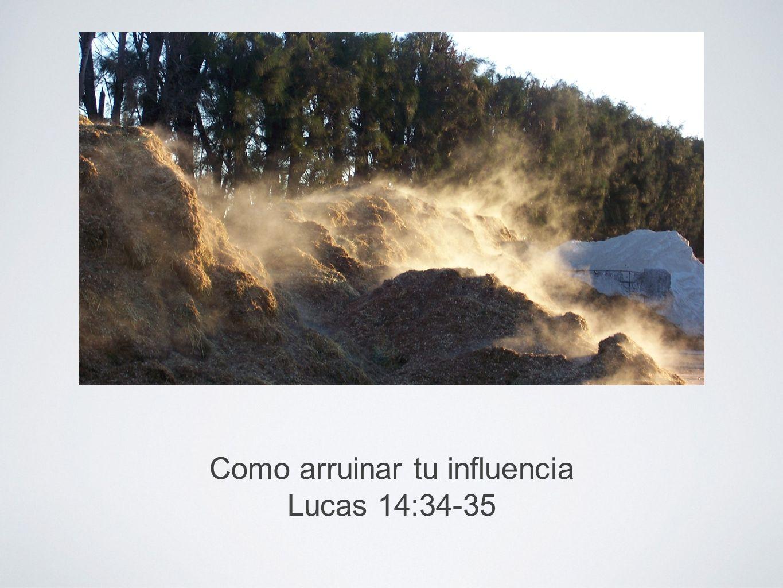 Como arruinar tu influencia La influencia es importante Eclesiastés 7:1; Prov.