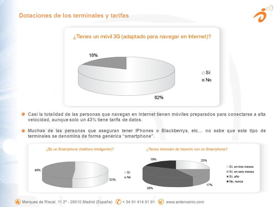 Entre los usuarios que navegan todos los días la tarifa plana se eleva hasta el 61%.