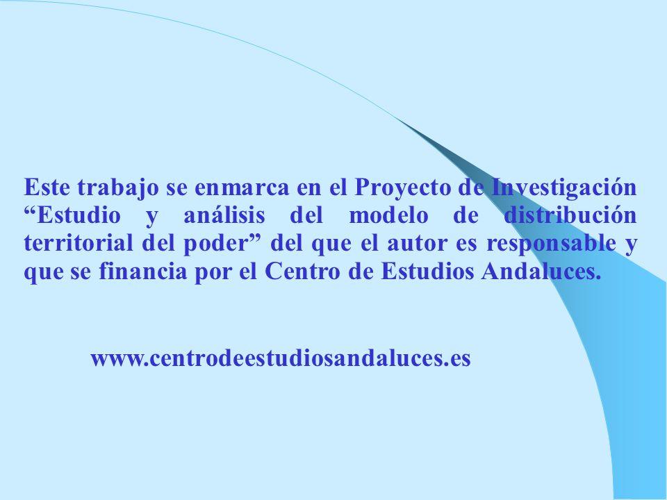 Este trabajo se enmarca en el Proyecto de Investigación Estudio y análisis del modelo de distribución territorial del poder del que el autor es respon
