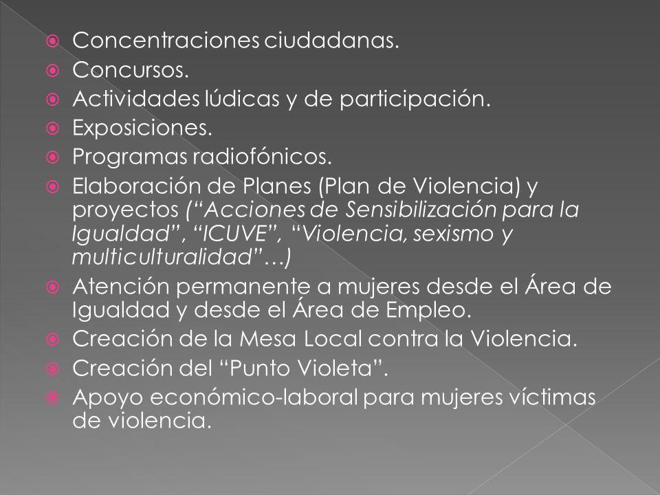 Elaborar y poner en marcha el I Plan Municipal de Medidas contra la violencia.