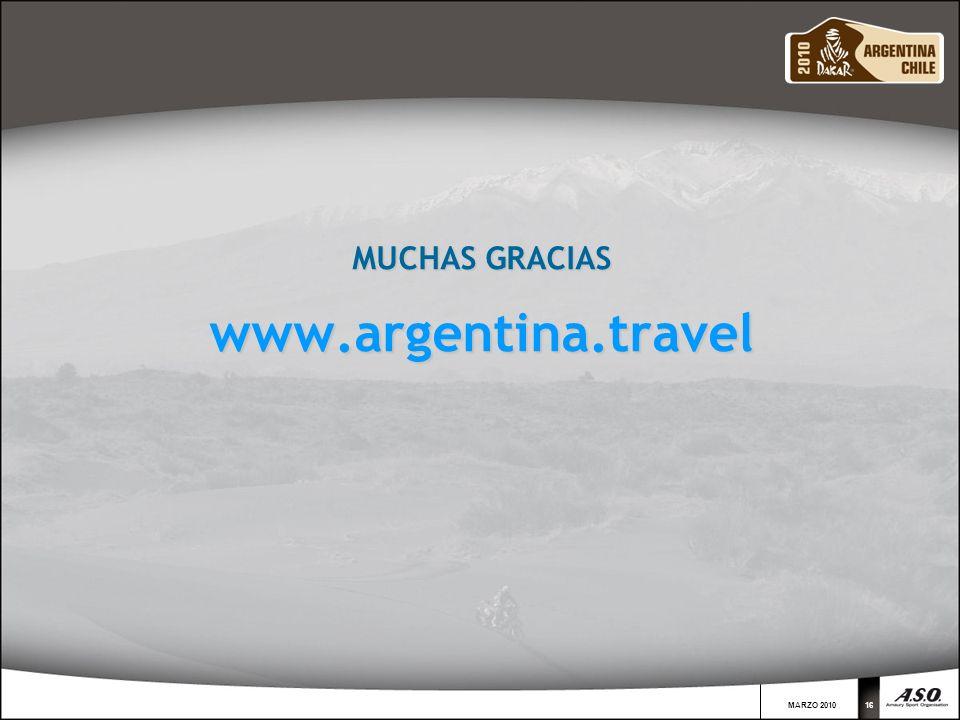 MARZO 201016 MUCHAS GRACIAS www.argentina.travel