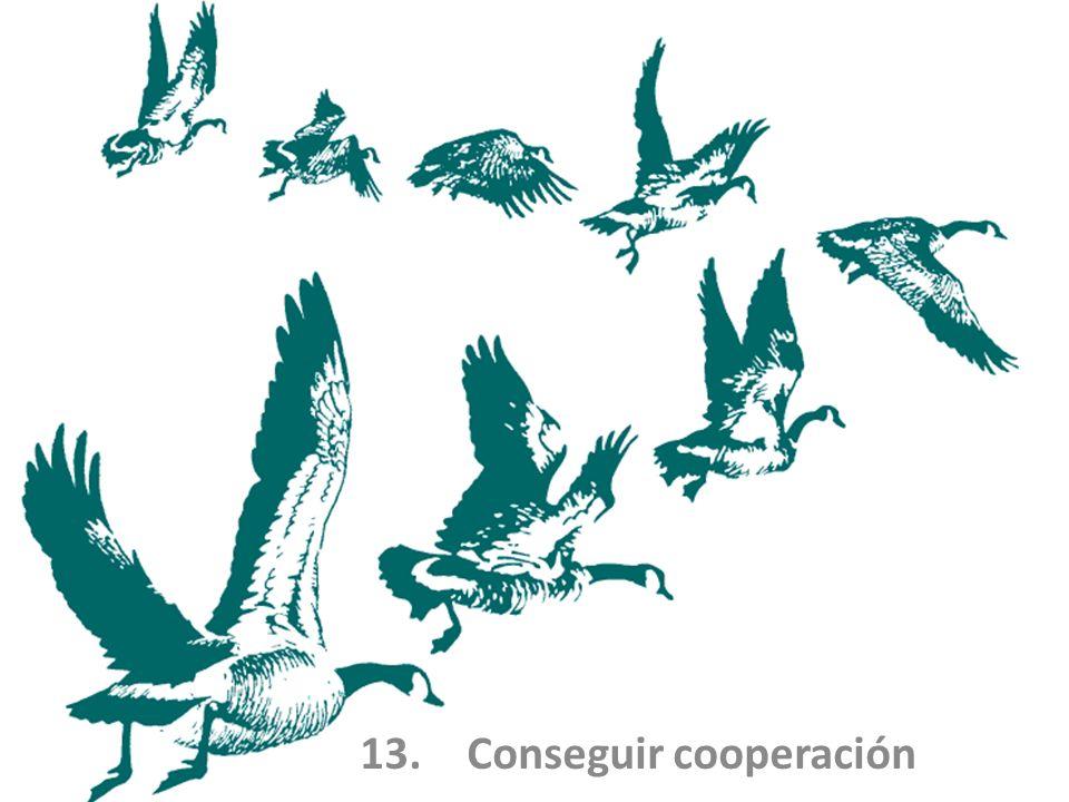 13.Conseguir cooperación