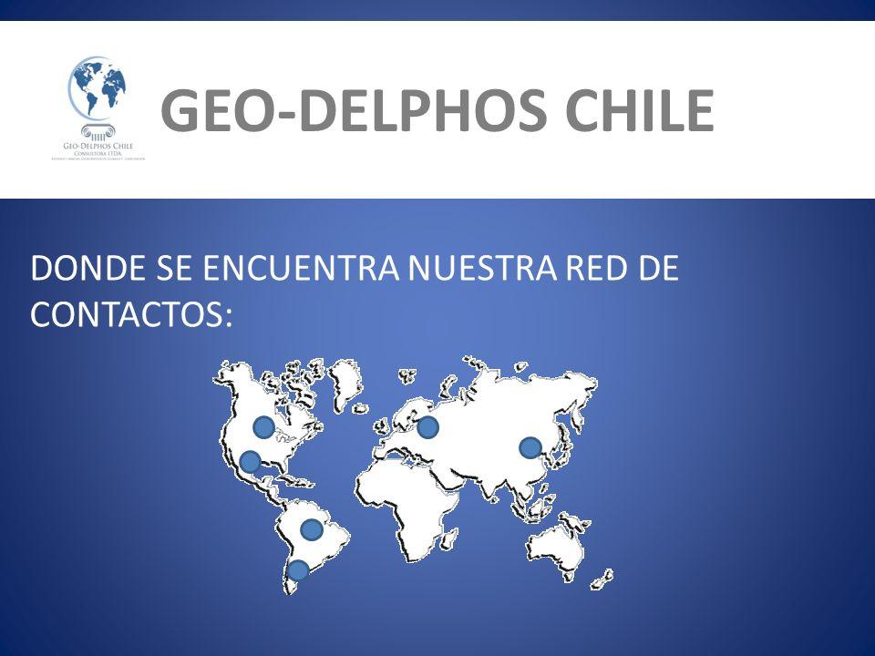 GEO-DELPHOS CHILE DONDE SE ENCUENTRA NUESTRA RED DE CONTACTOS: