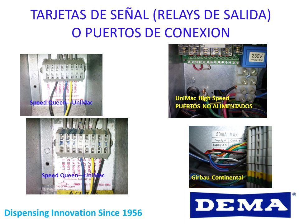 Dispensing Innovation Since 1956 Speed Queen---UniMac Girbau Continental TARJETAS DE SEÑAL (RELAYS DE SALIDA) O PUERTOS DE CONEXION UniMac High Speed