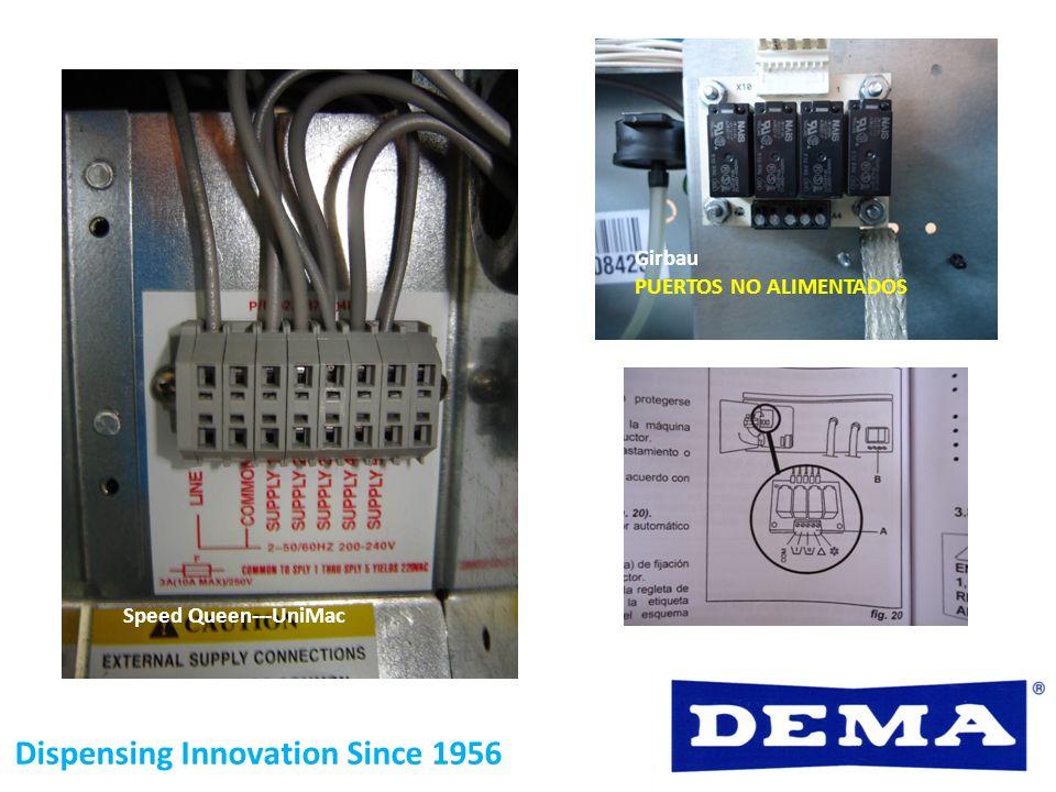 Dispensing Innovation Since 1956 Speed Queen---UniMac Girbau PUERTOS NO ALIMENTADOS