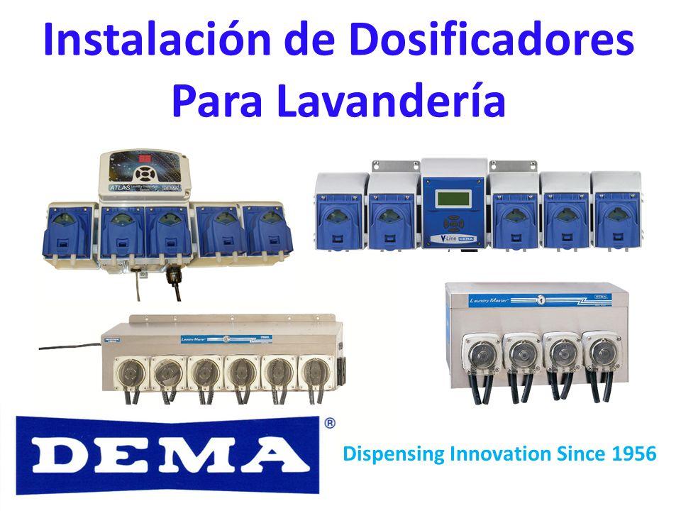 Instalación de Dosificadores Para Lavandería Dispensing Innovation Since 1956