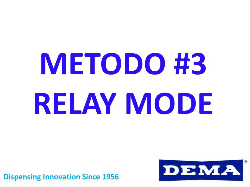 Dispensing Innovation Since 1956 METODO #3 RELAY MODE