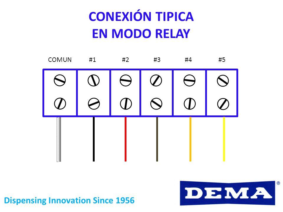Dispensing Innovation Since 1956 COMUN #1#2#3#4#5 CONEXIÓN TIPICA EN MODO RELAY
