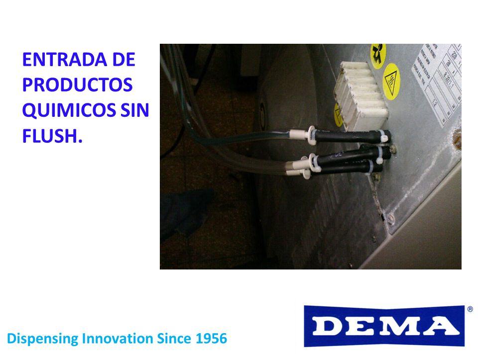 ENTRADA DE PRODUCTOS QUIMICOS SIN FLUSH.