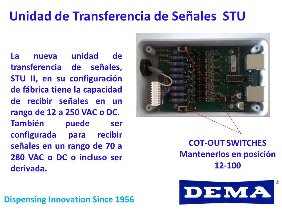 Dispensing Innovation Since 1956 La nueva unidad de transferencia de señales, STU II, en su configuración de fábrica tiene la capacidad de recibir señ