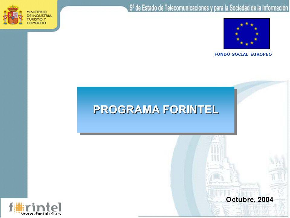 PROGRAMA FORINTEL Octubre, 2004 FONDO SOCIAL EUROPEO