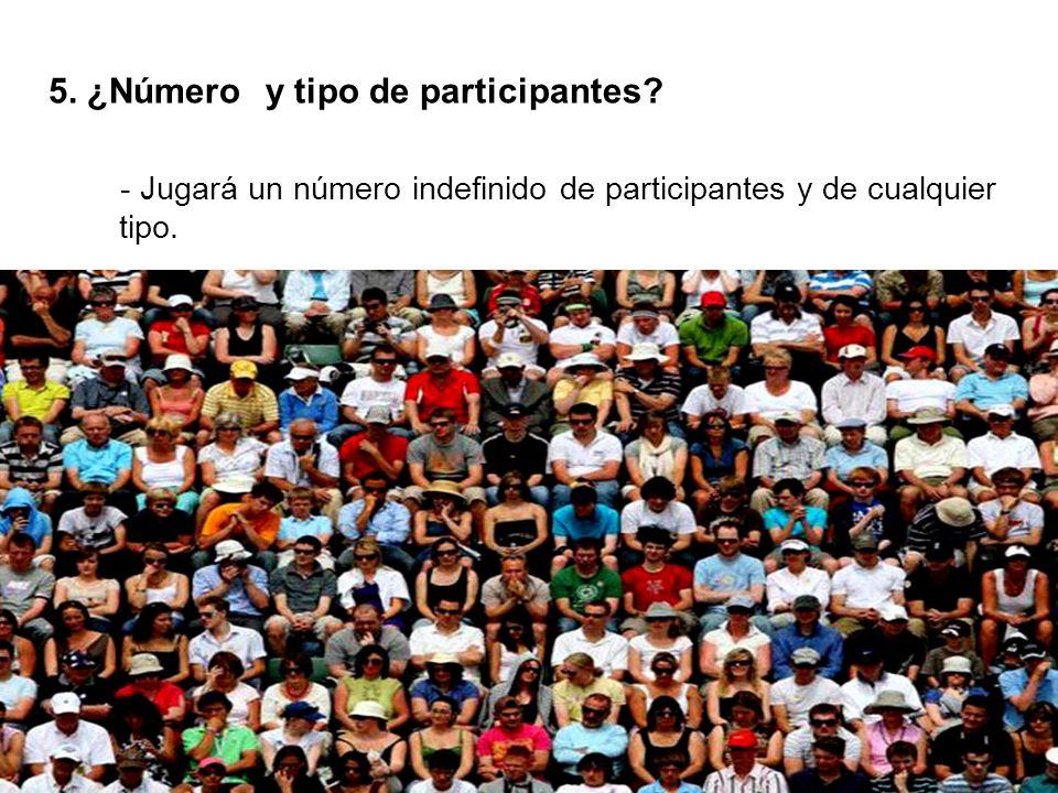 5. ¿Número y tipo de participantes.