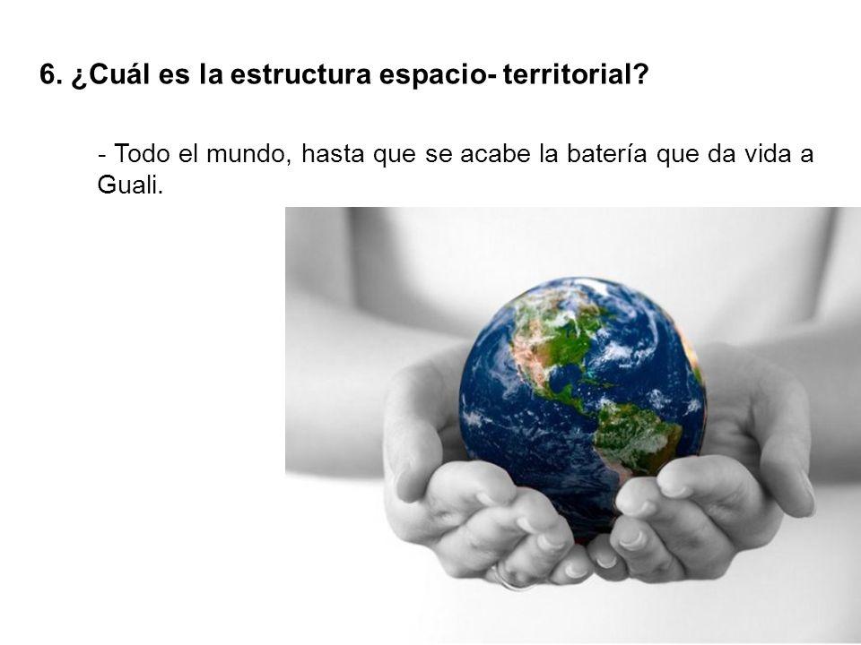 6. ¿Cuál es la estructura espacio- territorial.